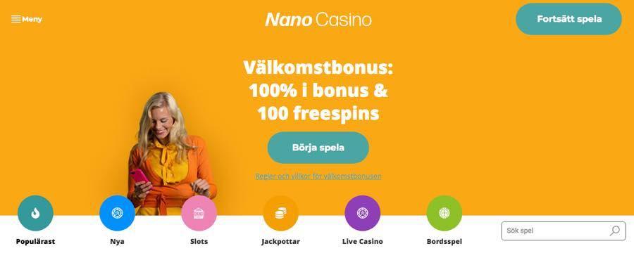 Nano Casino - Välkomstbonus